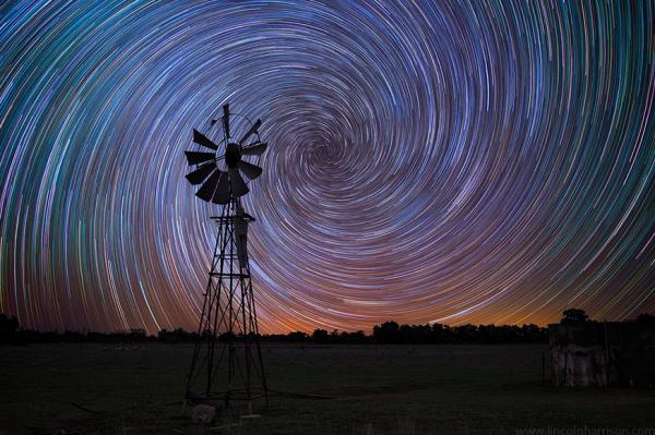 uzun pozlama yıldız