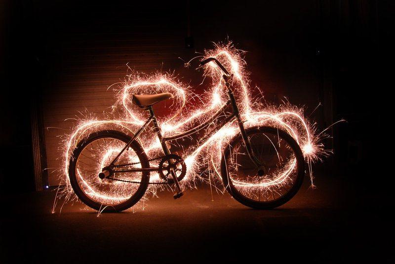 Işıkla boyama bisiklet