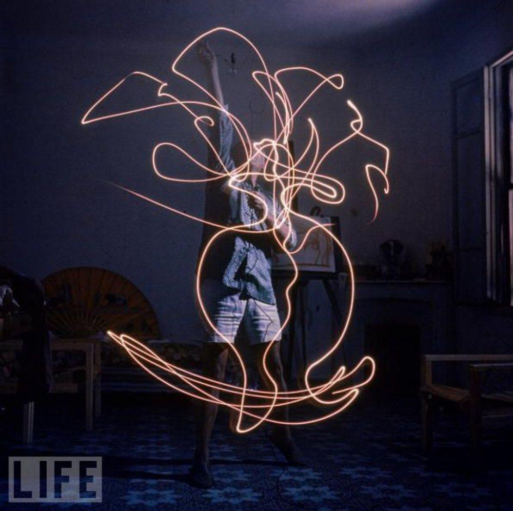 Picasso ışıkla boyama çalışmaları 2