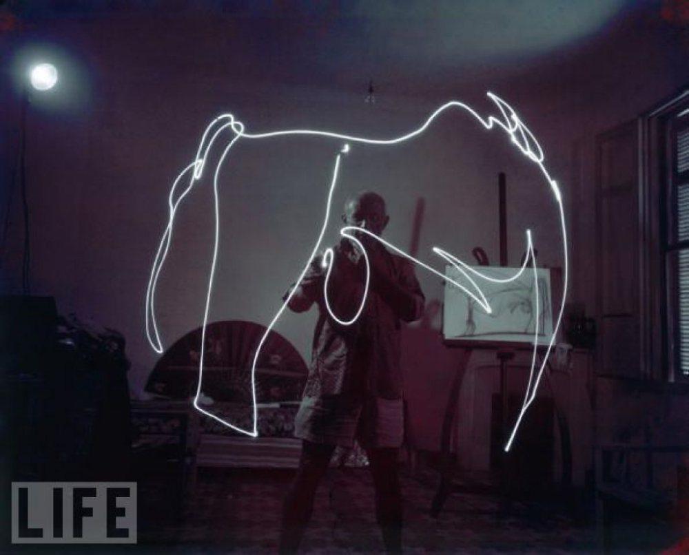 Picasso ışıkla boyama çalışmaları 7