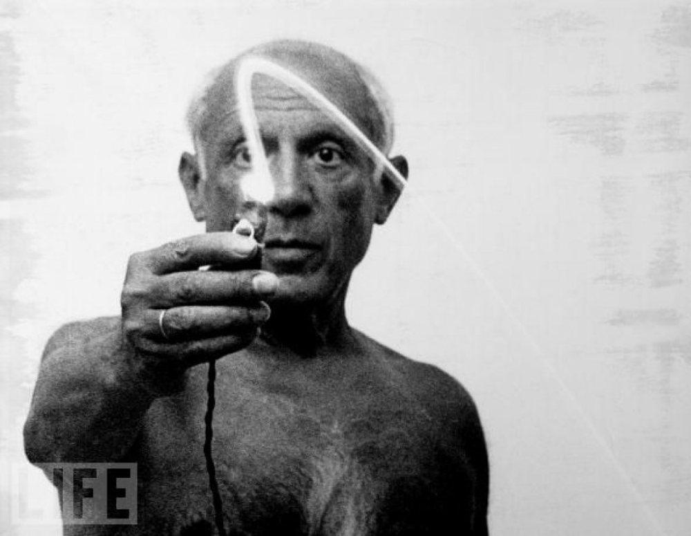 Picasso ışıkla boyama çalışmaları