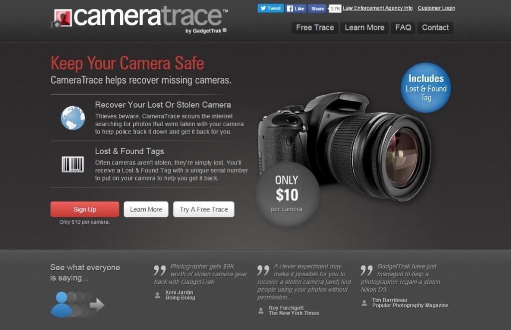 camera trace site