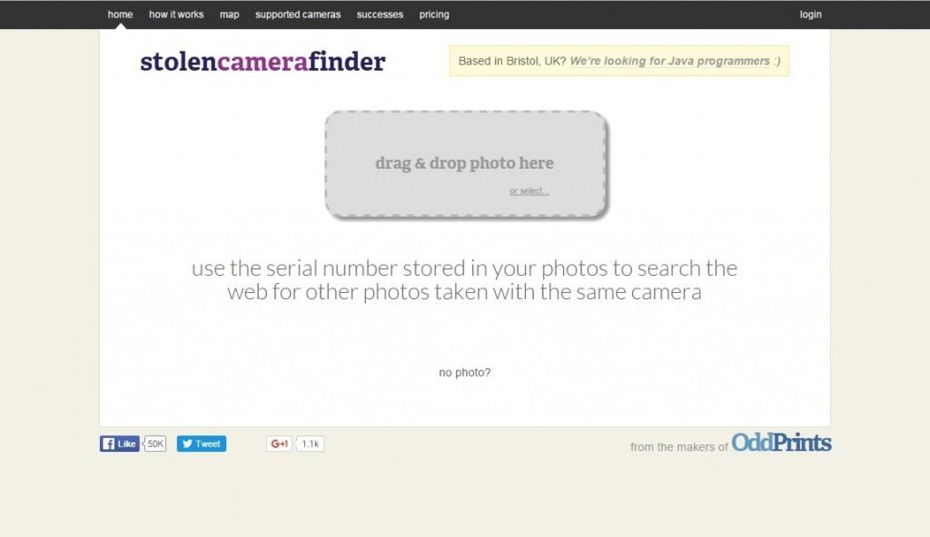 stolen camera finder site